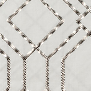 """Harleigh 96"""" Embroidered Panel Curtain, , large"""