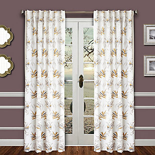 "Tropic 96"" Palm Panel Curtain, , large"