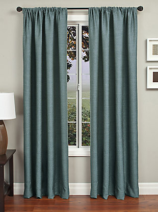"Pomo 84"" Jacquard Panel Curtain, Blue, rollover"