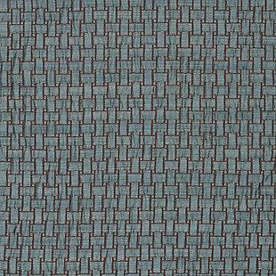 """Pomo 84"""" Jacquard Panel Curtain, Blue, large"""