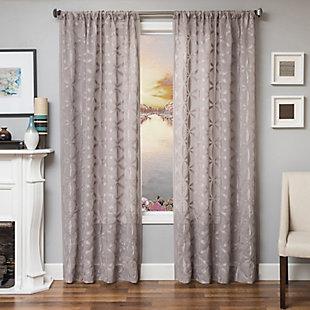 "Celestia 96"" Sheer Panel Curtain, Gray, large"