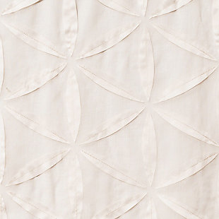 "Celestia 84"" Sheer Panel Curtain, Natural, large"