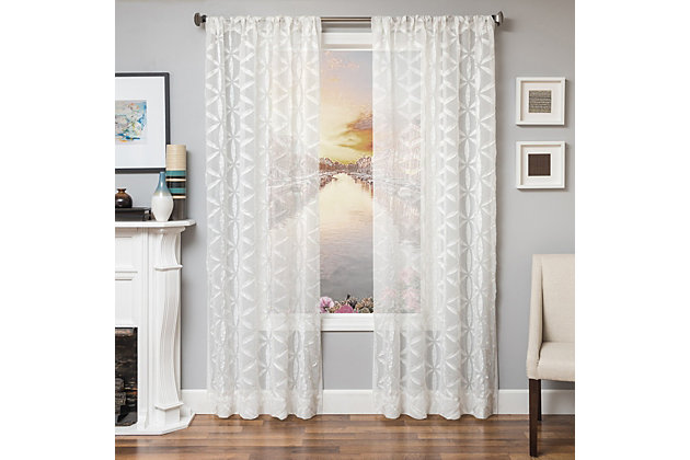 "Celestia 96"" Sheer Panel Curtain, , large"