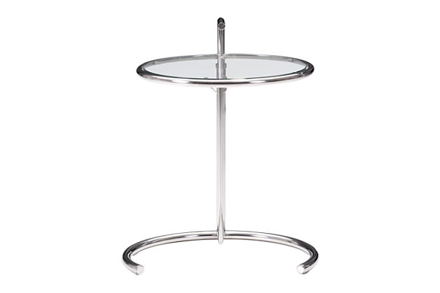 Eileen Grey Chrome End Table, , large