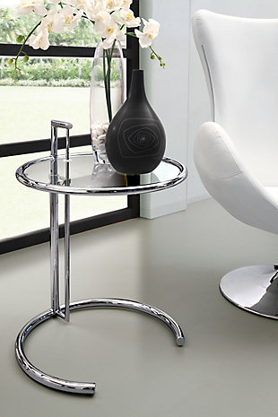 Eileen Grey Chrome End Table, , rollover