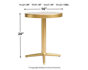 Derby Brass Accent Table, , large