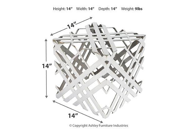Carlisley Aluminium Accent Table, , large