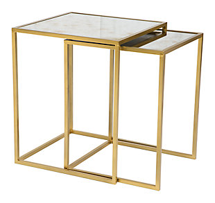 Calis Brass Nesting Tables, , large