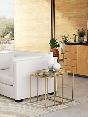 Calis Brass Nesting Tables, , rollover