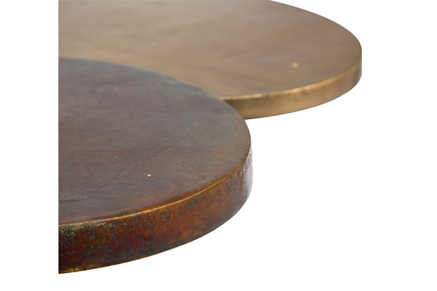 Dundeed Antique Brass Accent Table, , large