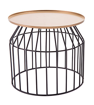 Travis Large Gold & Black End Table, , rollover