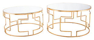 Reina Gold Accent Tables (Set of 2), , large