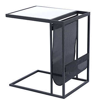 Jay Black Magazine Rack Table, , large
