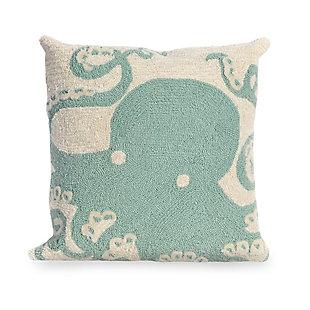 Deckside Sea King Indoor/Outdoor Pillow, Blue, rollover