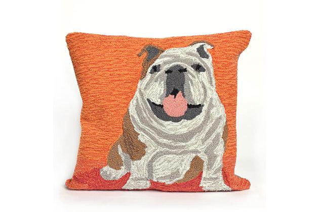 Deckside Happiness Indoor/Outdoor Pillow, , large