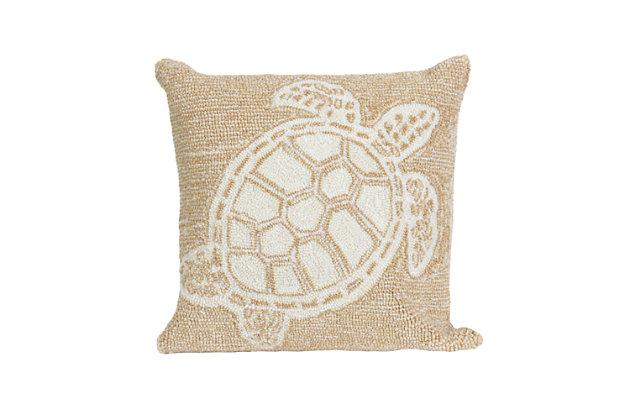 Deckside Flatback Indoor/Outdoor Pillow, Natural, large