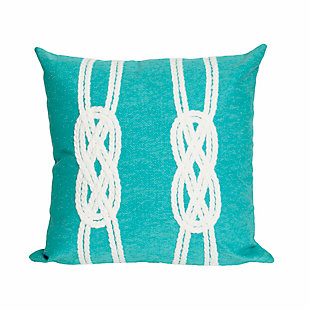 Spectrum II Ocean Braid Indoor/Outdoor Pillow, Blue, large