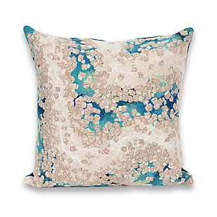 Spectrum III Abstract Indoor/Outdoor Pillow, Blue, rollover