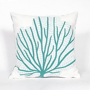 Spectrum III Sea Branch Indoor/Outdoor Pillow, Blue, large