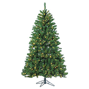 Holiday 7Ft. Montana Pine Christmas Tree with Warm White Lights, , large