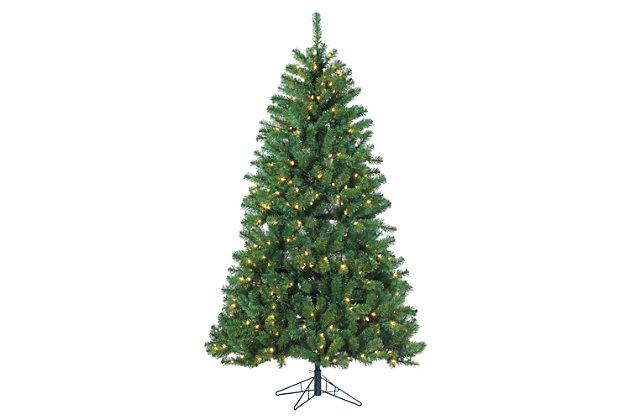 Holiday 7ft. Montana Pine Christmas Tree With Warm White Lights, , large