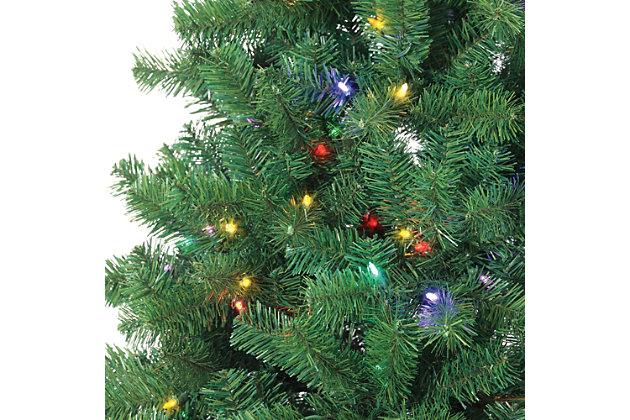 Gerson International Holiday 7Ft. Montana Pine Christmas Tree with Multi-colored Lights | Ashley ...