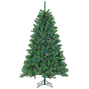 Holiday 7ft. Montana Pine Christmas Tree With Multi-colored Lights, , rollover