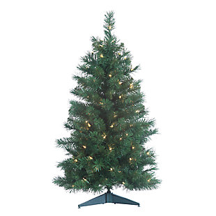 Holiday 3Ft. Colorado Spruce Christmas Tree with Clear Lights, , large