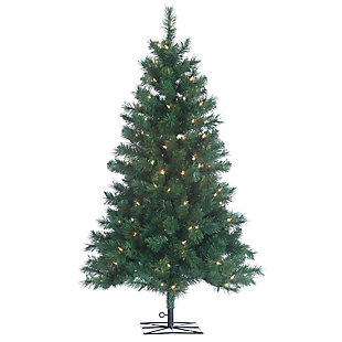 Holiday 4Ft. Colorado Spruce Christmas Tree with Clear Lights, , large