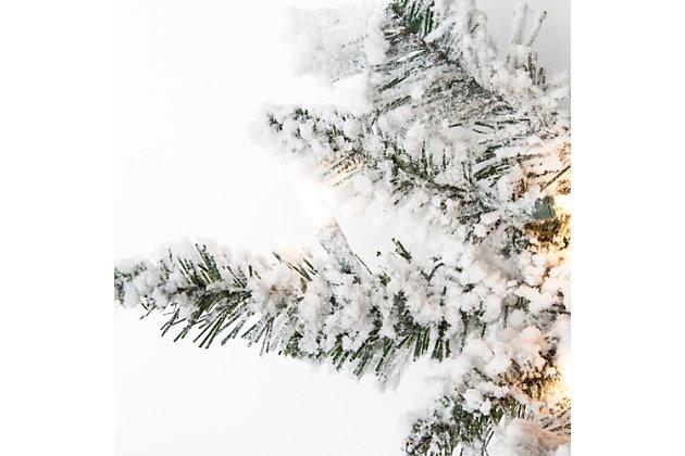 Holiday 4Ft. Flocked Colorado Spruce Christmas Tree W