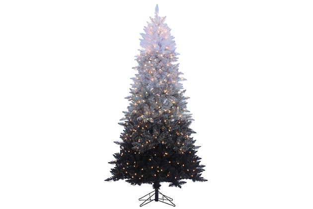 Holiday 7.55Ft. Black Ombre Spruce Christmas Tree with Clear Lights, , large