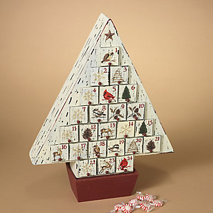 Holiday Rustic Wooden Christmas Tree Advent Calendar, , rollover