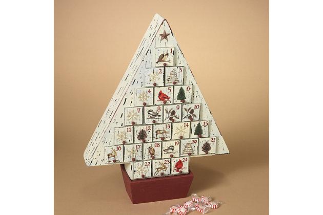 Holiday Rustic Wooden Christmas Tree Advent Calendar Ashley