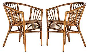 Safavieh Adriana Rattan Accent Chair (Set of 2), , rollover