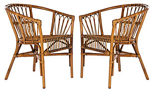 Safavieh Adriana Rattan Accent Chair (Set of 2), , large