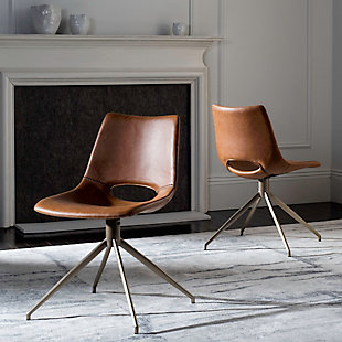 Safavieh Danube Swivel Chair (Set of 2), , rollover