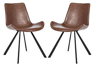 Safavieh Terra Accent Chair (Set of 2), Medium Brown/Black, large