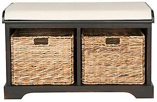 Safavieh Freddy Storage Bench, Brown, large