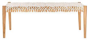 Safavieh Bandelier Bench, Light Oak/Off White, large