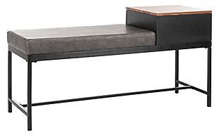 Safavieh Maruka Bench With Storage, Brown/Gray, large