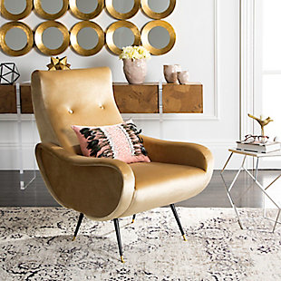 Safavieh Elicia Accent Chair, Camel, rollover