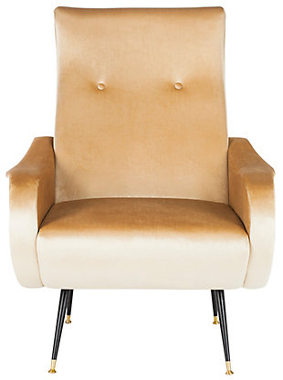 Safavieh Elicia Accent Chair, Camel, large