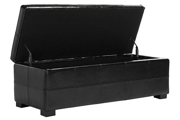 Safavieh Madison Large Storage Bench, Black, large