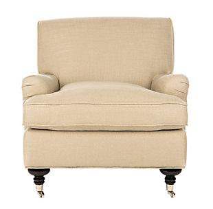 Safavieh Chloe Club Chair, Antique Gold, large