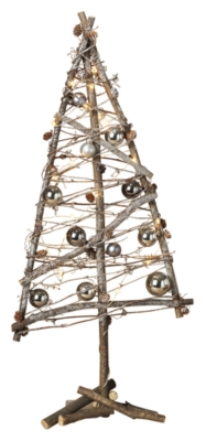 Ashley Holiday 31 in. Battery Operated Lighted Twig Tree,...
