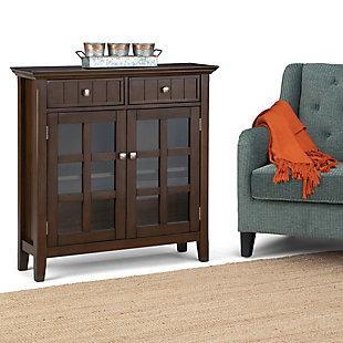 """Simpli Home Acadian 36"""" Rustic Storage Cabinet, Brown, rollover"""