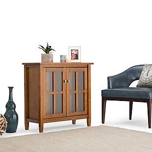 "Simpli Home Warm Shaker 32"" Rustic Storage Cabinet, Light Golden Brown, rollover"