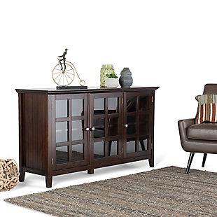 "Simpli Home Acadian 62"" Rustic Storage Cabinet, Brunette Brown, rollover"