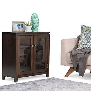 """Simpli Home Cosmopolitan 30"""" Contemporary Storage Cabinet, Brown, rollover"""