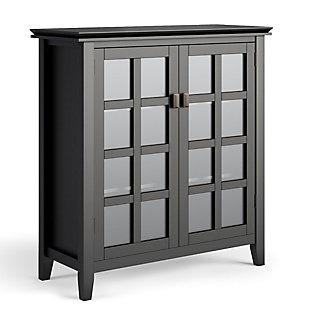 "Simpli Home Artisan 38"" Contemporary Storage Cabinet, Black, large"